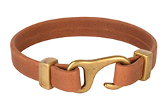 Saddle Strap Flat Leather Cord Bracelet