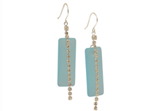 Sea Holly Cultured Cultured Sea Glass Earrings