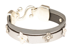 Shades of Grey Leather Bracelet