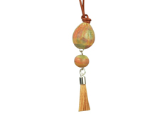 Tangerine Tango Claycult Ceramic Bead Necklace