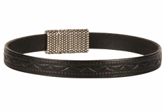 The Roman 8mm Embossed Leather Bracelet