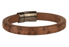 Timber Wolf Regaliz Leather Bracelet