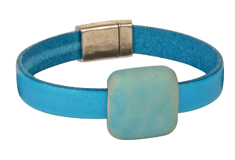 Deep Blue Sea Golem & Dolce Leather Cord Bracelet