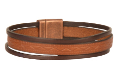 The Centurion 8mm Embossed Leather Bracelet