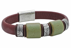 Tree Hugger Mini Regaliz Leather Bracelet