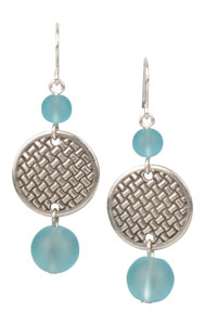 Woven Round TierraCast Earrings