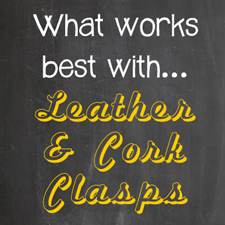 What fits on leather clasps