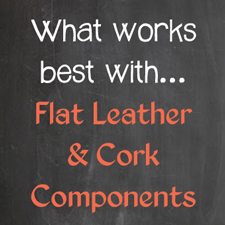What fits on flat leather components