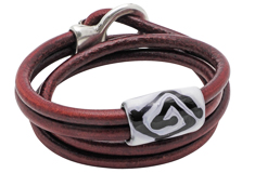 Whiskey Wrap Leather Bracelet Version 3