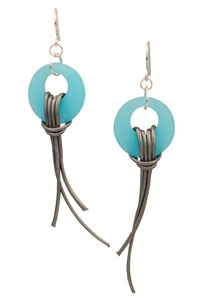 Will O' The Wisp Cultured Sea Glass Earrings