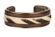 Wild Stripes Cuff Flat Leather Bracelet