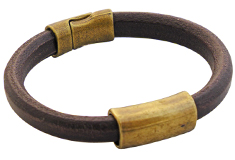 Basic Brass Regaliz Leather Bracelet