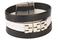 Brickworks Flat Cuff Leather Cuff Bracelet