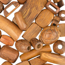 Bulahan Large Hole Wood Beads By Wood Type