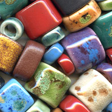 Clay River Porcelain Beads for Regaliz and Euro Leather Beading Cord