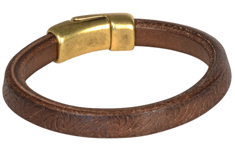 Embossed Brown Regaliz Leather Bracelet