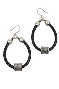 Leather Loops 3mm Round Leather Earrings