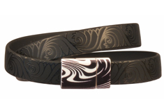 Little Black Patterned Clasp & PVC Cord Bracelet