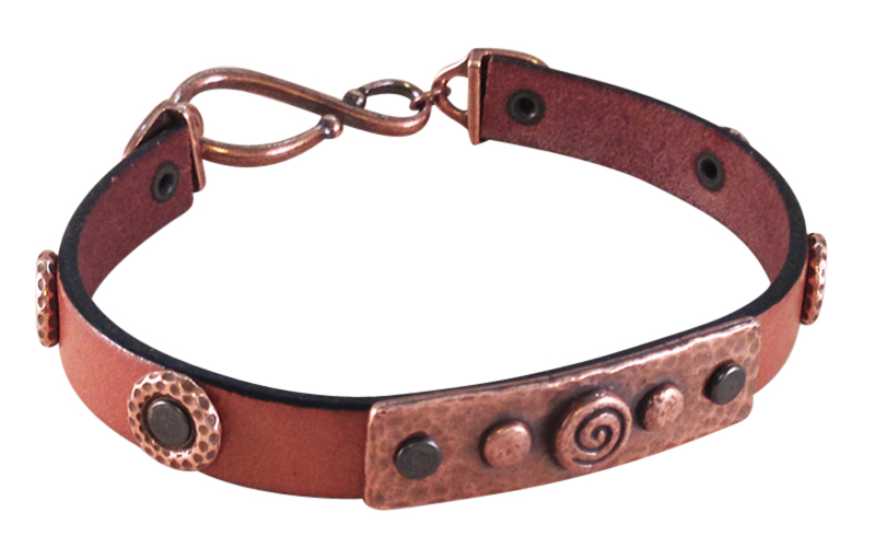Rock & Roll Riveted Leather Bracelet