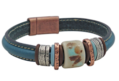 Swiss Alps Mini Regaliz Leather Bracelet