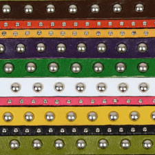 Studded 5mm & 10mm Flat Leather