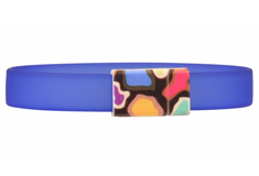 The Modern Patterned Clasp & PVC Cord Bracelet