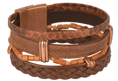 Rattlesnake Cuff Mens Leather Bracelet
