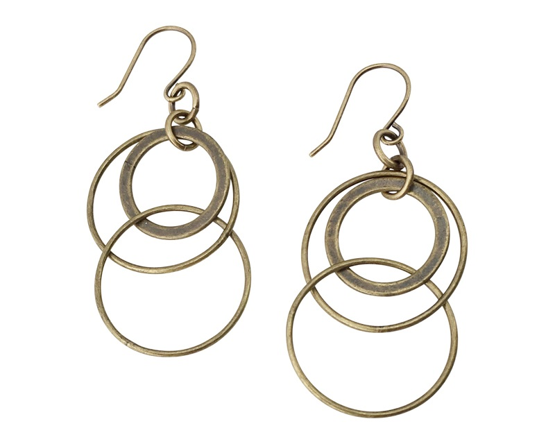 Rotating Rings Earrings
