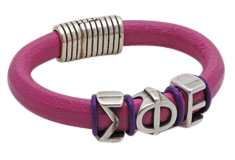 Sorority Sister Regaliz Leather Bracelet