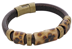 Turtle Regaliz Leather Bracelet