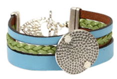 Urban Mermaid Flat Leather Bracelet